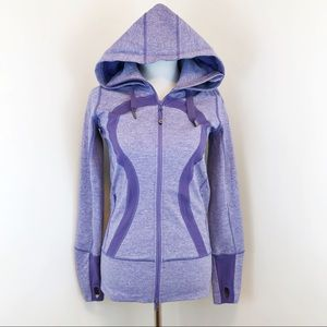 Lululemon Hooded Stride Jacket Heather Lavender